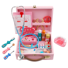 Hot Sale 34Pcs Doctor Toys Educational Children Pretend Play Nurse Role-Play Set Medicine Cabinet Kit 2 Colors