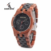 BOBO BIRD V N17 New Arrival Men s Top Quality Natural Wood Watches Casual Dressed Quartz