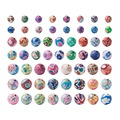 Pandahall 200 шт. разноцветные полимерные круглые бусины ручной работы из глины для самостоятельного изготовления ювелирных изделий Размер: 8 мм...