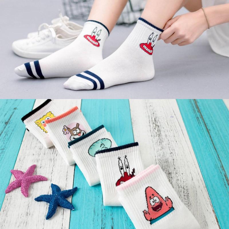 Hot Fashion Cartoon Character Cute Short   Socks   Women Harajuku Cute Patterned Ankle   Socks   Hipster Skate Ankle Funny   Socks   Female