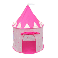 HOT SALE Portable Pink Pop Up Play Tent Kids Girl Princess Castle Outdoor House