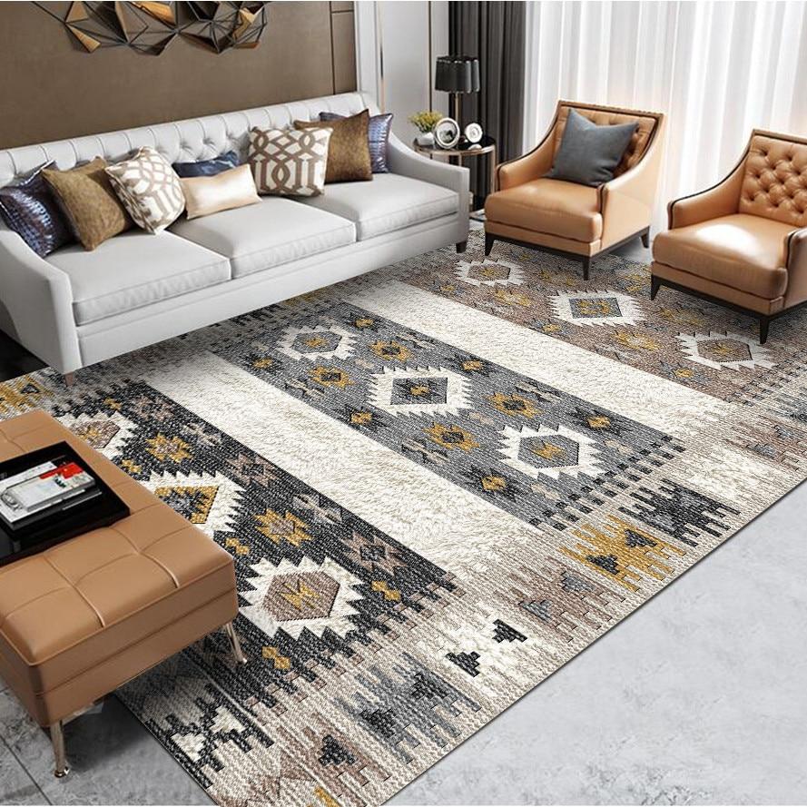 US $37.08 40% OFF|Morocco Style Carpet Livingroom Europe Carpet Bedroom  Sofa Coffee Table Turkish Rug Study Room Floor Mat Home Decor Vintage  Rugs-in ...