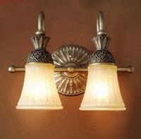 Кантри стиле настенный светильник роскошные украшения два легких бра старинные настенный светильник содержит два 5 Вт светодиодные лампы Б