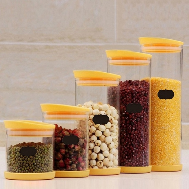 Kitchen Fruit Jars Organizer Blackboard Sticker