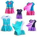 Newest kids Halloween dress cute baby party dress with cape Princess Elsa Costume supergirl Batman X-msa dress