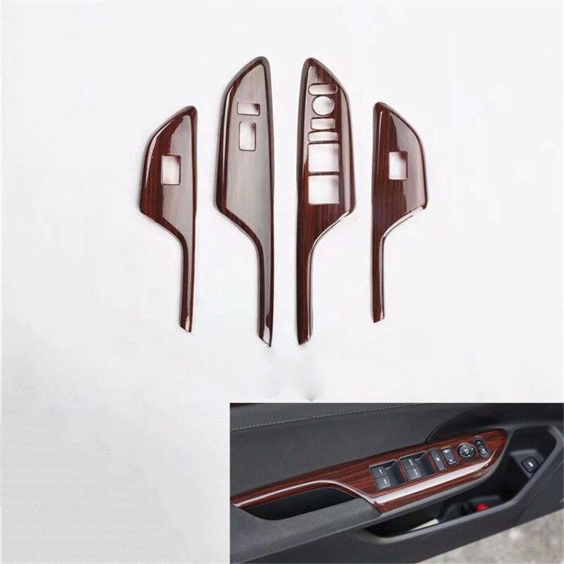 Étoile supérieure ABS voiture porte ascenseur fenêtre bouton de commutation protection éraflure plaque décoration couverture pour Honda Civic 10th 2016 2017 2018