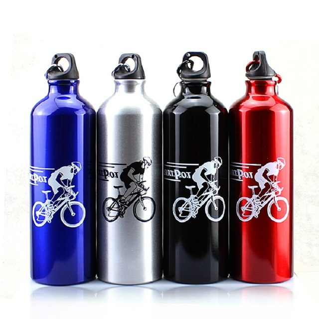 750ML Outdoor Sport Camping Hiking Bicycle Bike Cycling Water Bottles Water drink Bottle Aluminum Alloy MTB Bike Water Bottle