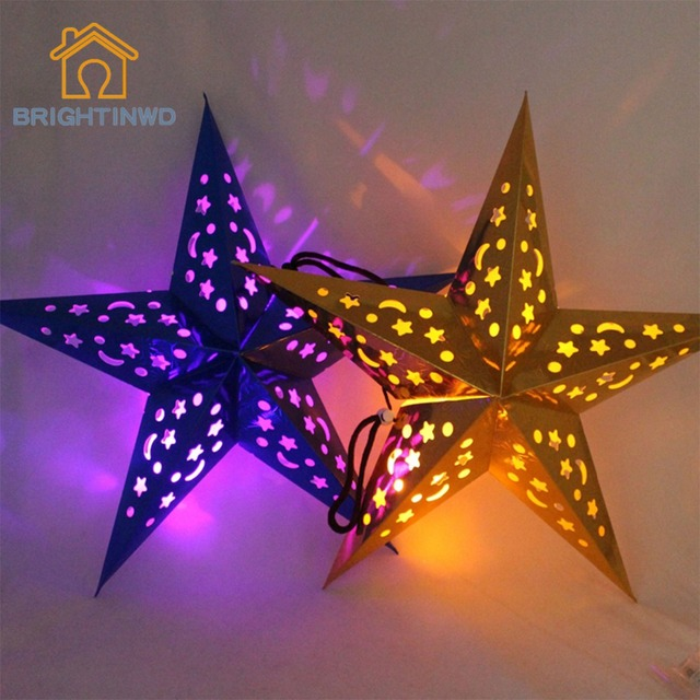 30cm Star Light 6pcs Holiday Christmas Lights Indoor Novelty String Lights  For Bedroom Or Living Room