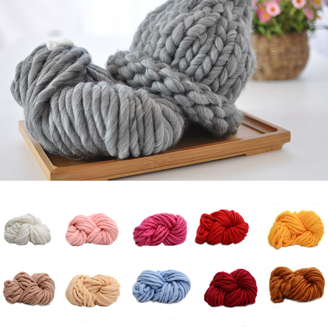 Hand Knitting Yarn Design : Thick yarn for knitting threads hand knit scarf soft