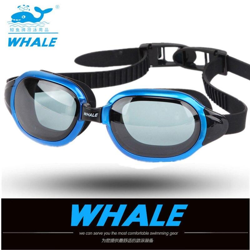 Baleia 2019 recém chegados óculos de água profissional natação óculos adultos natação à prova duv água uv anti nevoeiro piscina ajustável