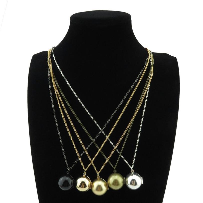 Free shipping 4 Color- Copper Ball Necklace Bridesmaid Hidden Secret Message Locket Vale ...