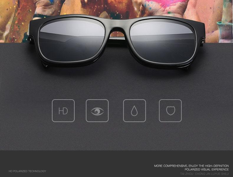 10329c5c37444 Compre Ímã Plano Polarizada Óculos De Sol Dupla Utilização TR90 ...