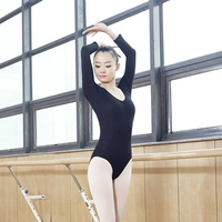 Adult Ballet Leotard Sleeve Bodysuit Dance Clothes Gym Suit