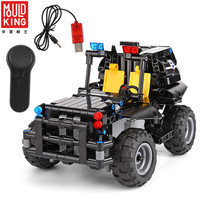 MOULD KING City Police Special Forces Military RC Tracked Car DIY Building Blocks legoing SWAT Team Off road SUV Car brinquedos