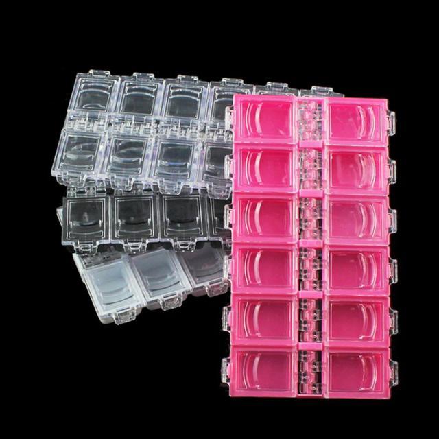 12 Grid Nail Art Storage Box Rhinestone Bead Acrylic Crystal Gem ...
