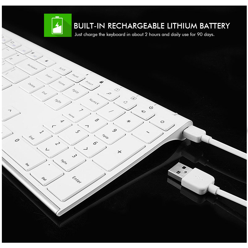 Ultra Thin Metal Wireless Slim keyboard and mouse combo 4