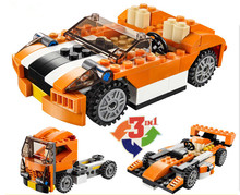 3108 119 Pcs 3in1 Serie Orange voiture de sport-camion Modele Building Blocks set Briques Enfants Pour Les Jouets Decool