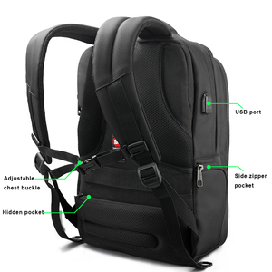Image 3 - Tigernu Water Repellent Nylon Men Anti theft 15.6inch Laptop Backpacks Business USB Charger Computer Schoolbag Backpack for Boys