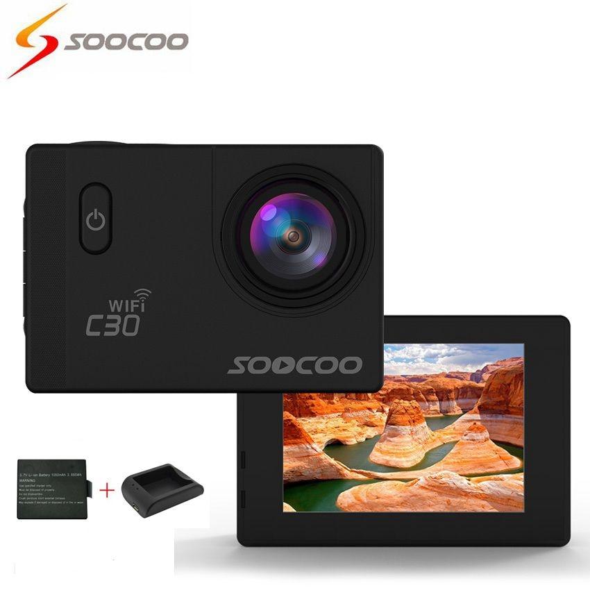SOOCOO C30 Action Sport Waterproof Camera NTK96660 Wifi 4K Gyro 70-170 Degrees Adjustable soocoo c30 sports action camera wifi 4k gyro 2 0 lcd ntk96660 30m waterproof adjustable viewing angles