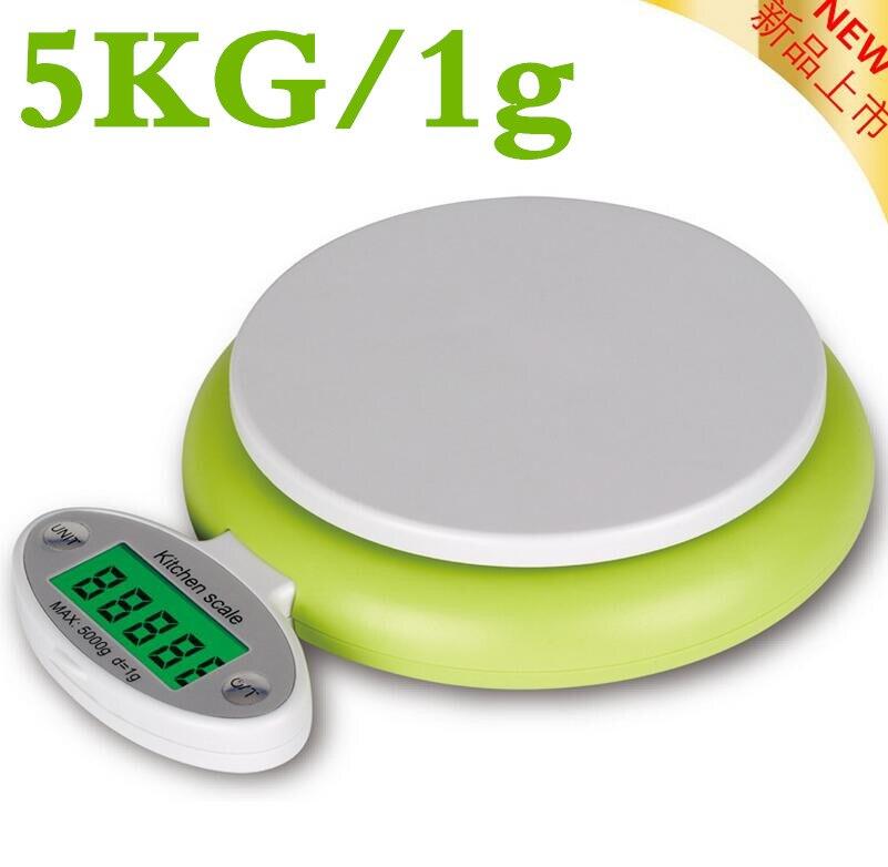 DHL/FedEx 120 шт. 5000 г 5 кг/1 г Цифровой Весы электронный Кухня складной Весы Вес с перегрузкой/Низкий заряд аккумулятора приглашения