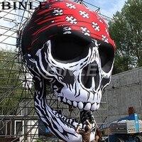Индивидуальные Фестиваль удивительный висит гигантские надувные Хэллоуин Череп airblown страшно скелет для вечерние украшения