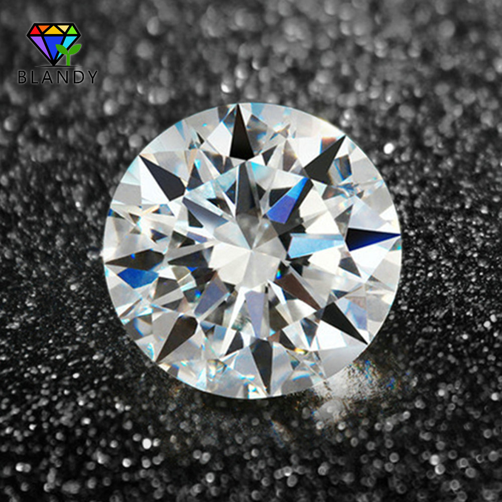 100pcs/lot 0.8-3.0mm AAAAA Round European Star Cut CZ Stone Loose Synthetic White Cubic Zirconia Stone For Jewelry