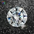 100 шт./лот 0,8-3,0 мм AAAAA круглая Европейская звезда огранка CZ камень свободный Синтетический Белый кубический цирконий камень для ювелирных из...