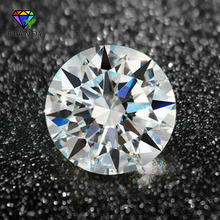 100pcs/lot 0.8-3.0mm AAAAA Round European Star Cut CZ Stone Loose Synthetic White Cubic Zirconia Stone For Jewelry(China)