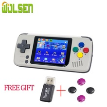 Wolsen แบบพกพาคอนโซลวิดีโอเกม 2.4 นิ้วความคืบหน้าบันทึก MicroSD card Emulation มือถือเกมในตัว 1000 เกมเพิ่มเติม