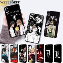 цена WEBBEDEPP Anime Manga Death Note Design Silicone soft Case for iPhone 5 SE 5S 6 6S Plus 7 8 11 Pro X XS Max XR