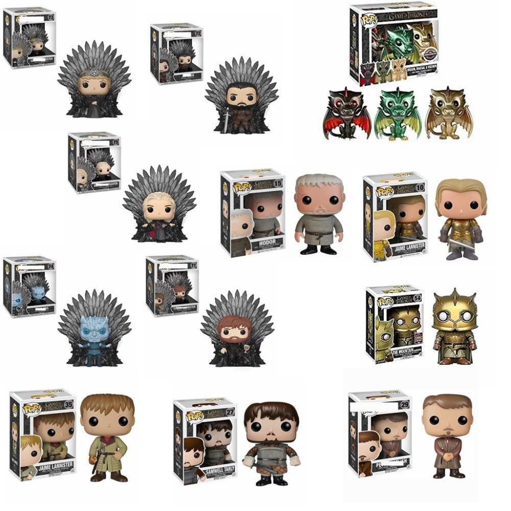 FUNKO POP NEW Game of Thrones SAMWELL TARLY THE MOUNTAIN JON SNOW HODOR FigureToys Collection model toy for children