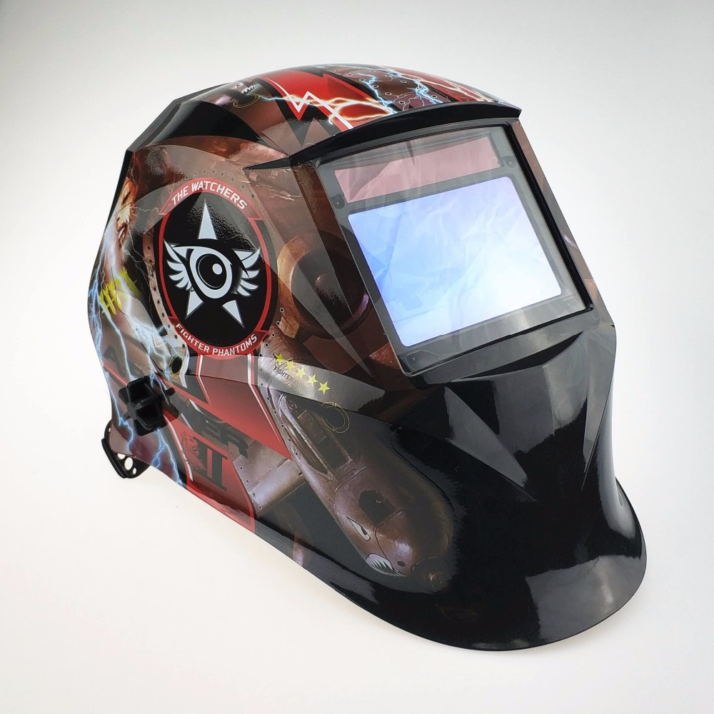 Professional Welding Helmet 100x65mm3.9x2.5 Optical Class 1111 4 Sensors Welding Hat Auto Darkening MMA MIG TIG CE Welder Mask wedling tool football pro solar auto darkening shading tig mig mma arc welding mask helmet welder cap for welding machine