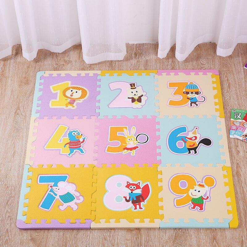 9pcs baby game pad eva eva playmat kid soft foam puzzle mat mat for children soft sport. Black Bedroom Furniture Sets. Home Design Ideas
