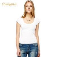 2016 New Korean Fashion Shirt U Collar Cotton Sexy Women T Shirt M16046