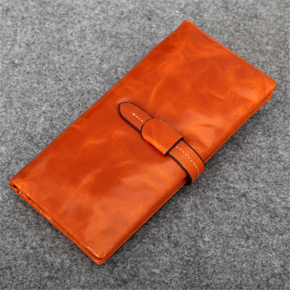 HOT womens wallets and purses and clutches Long Oil wax leather genuine leather Hasp zipper Female Coin Party Purses Card Holder yuanyu 2018 new hot free shipping pearl fish skin long women clutches euramerican fashion leisure female clutches