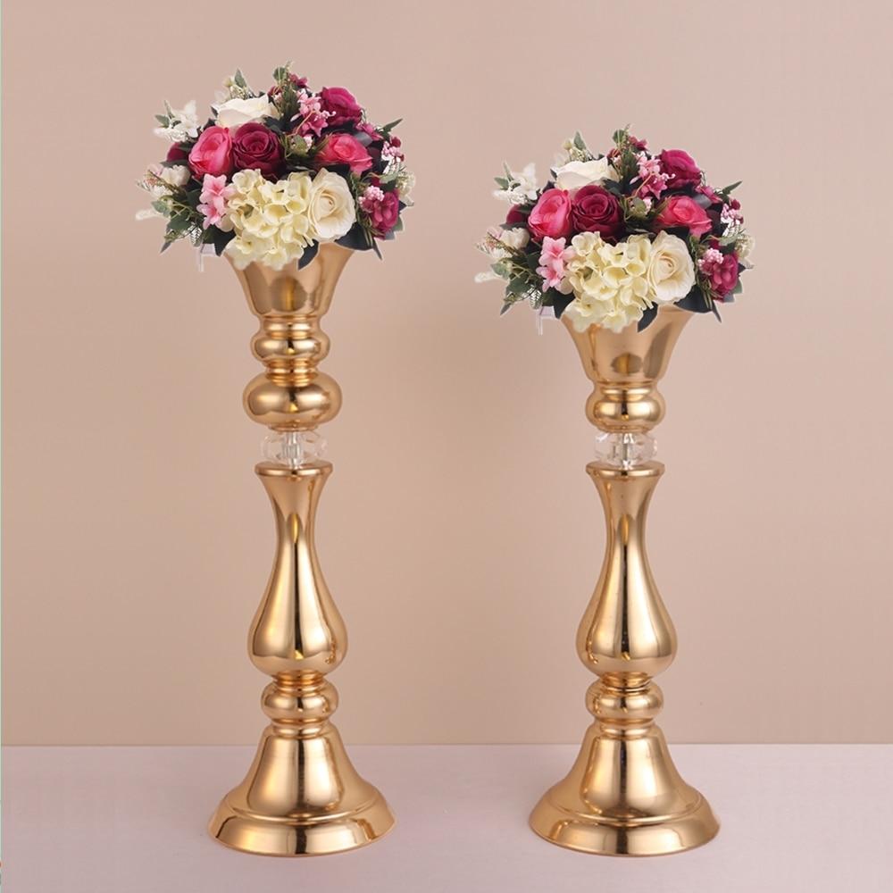 45cm or 50cm Tall Gold flower stand Metal flower vases