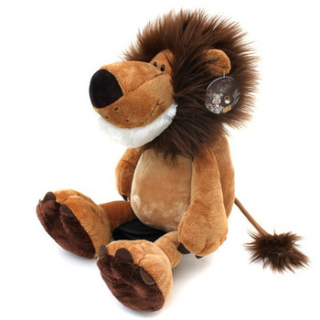 Soft Lion Plush Toy Pillow Stuffed Animal Lion Appease Bed doll For Children Room Sleeping Mate toys for children Gift Children new simulation lion toy handicraft lifelike lion doll with a small lion in the mouth gift about 50x33cm