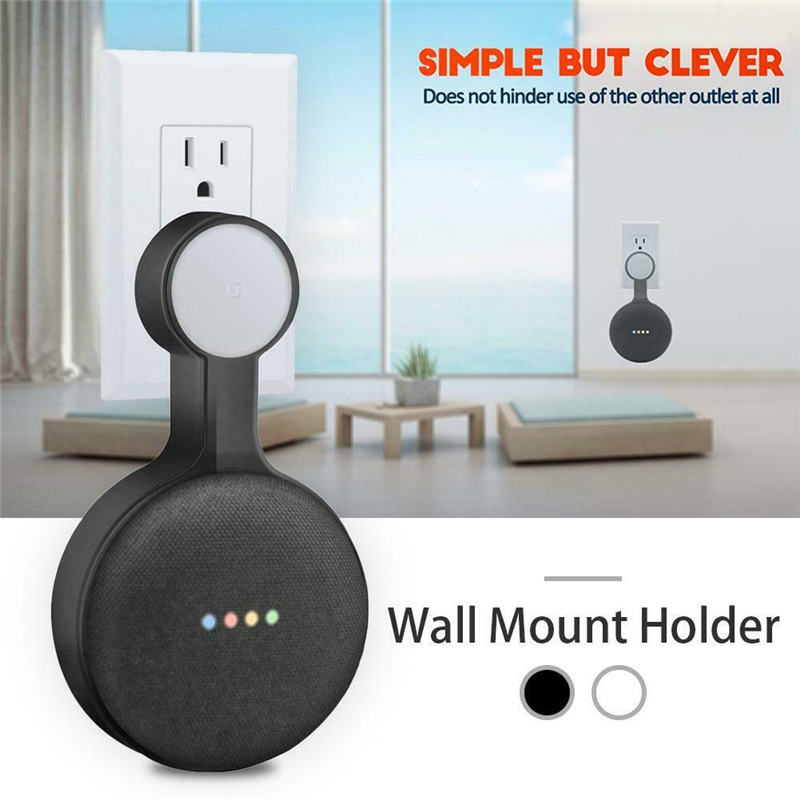 Outlet Wall Mount Stand Hanger Holder For Google Home Mini Voice Assistant Smart Home Home Automation(China)