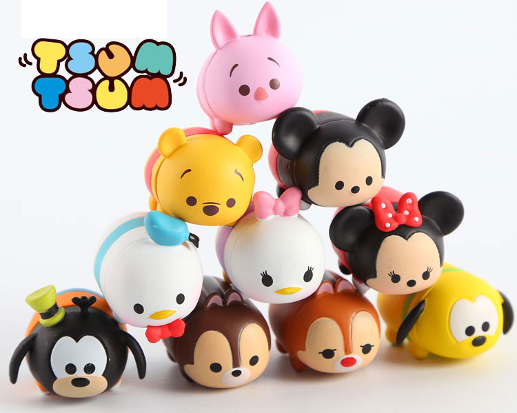 10pcs set tsum tsum mini doll set toy mickey minnie daisy. Black Bedroom Furniture Sets. Home Design Ideas
