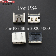PS3 TingDong Para Playstation 3 Slim CECH-3000 3001 HDMI Para Playstation 4 PS4 Porta HDMI Tomada de Interface Conector de Substituição