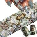 1 Hoja de Shimmer Cielo Estrellado Hoja Del Clavo Láminas Holográficas Transferencia Art Nail Foil Pegatina Transferencia
