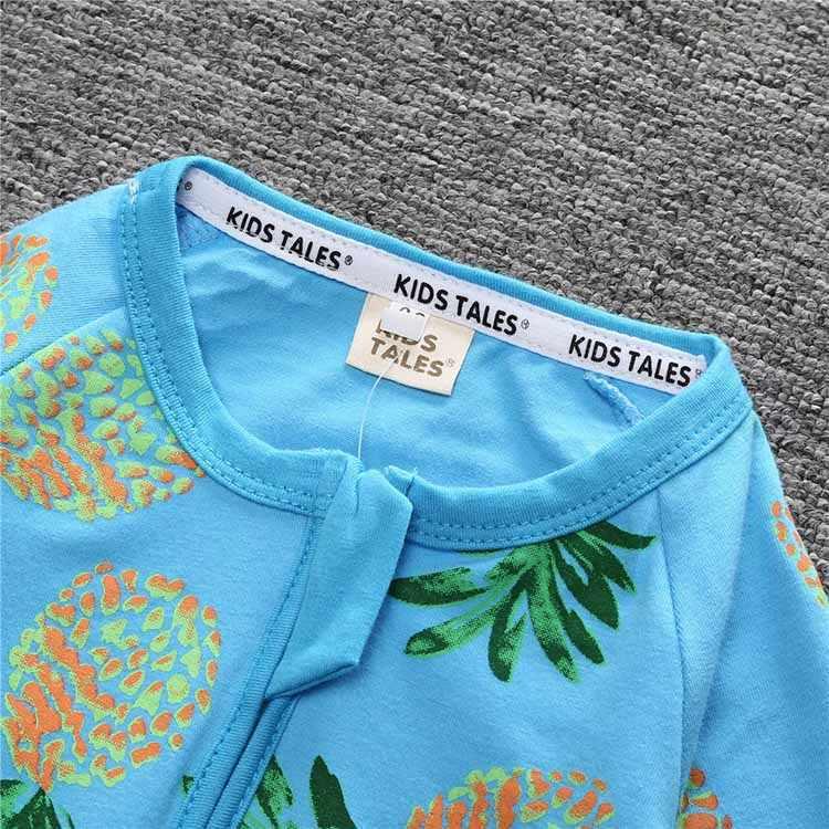 Детские комбинезоны с длинными рукавами; хлопковая одежда для маленьких мальчиков и девочек; детская одежда; комплект одежды с рисунком ананаса; PPY-152