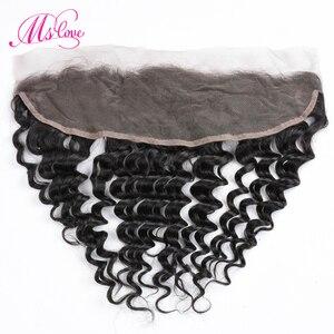 Image 5 - MS Love Deep Wave ด้านหน้าลูกไม้ 13x4 ปิดผมมนุษย์บราซิล Remy Hair Extension