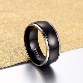 Medical Alert ID Type 1/2 Diabetes Ring Black Titanium  4