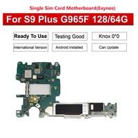 Tehxv Original Motherboard For Samsung Galaxy S9 Plus G965F Single Card 64GB/128GB Unlocked Board Clean IMEI