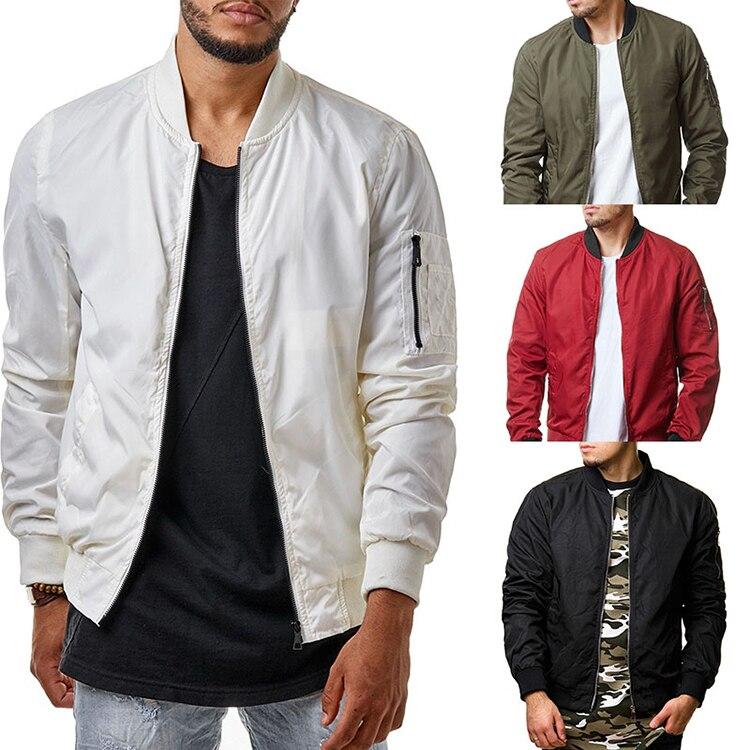 Купить Оптом Зимняя Мода Мужская Куртка Сплошной Цвет Стенд Воротник ... 6ed2aef87502d