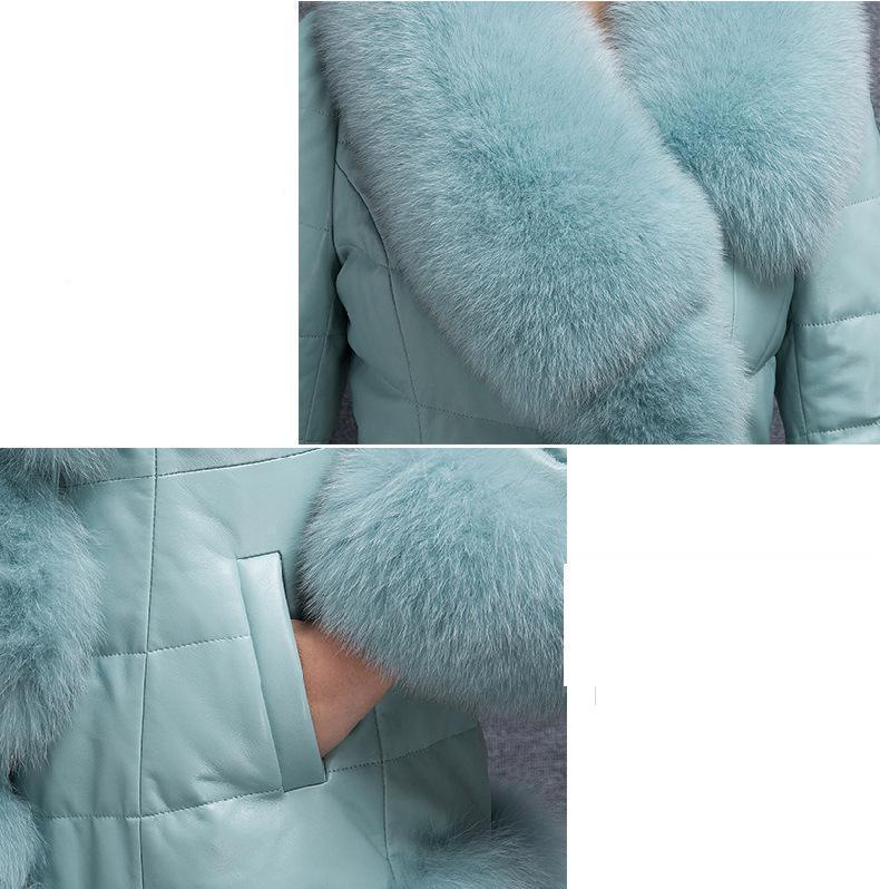 Manteau Vêtements Cuir Herbe Longue Dans purple Nouvelle Renard Black Femmes Imitation De S La sky 4xl Pu Section Automne En Blue D'hiver 2018 Fourrure Et lJ1FcK