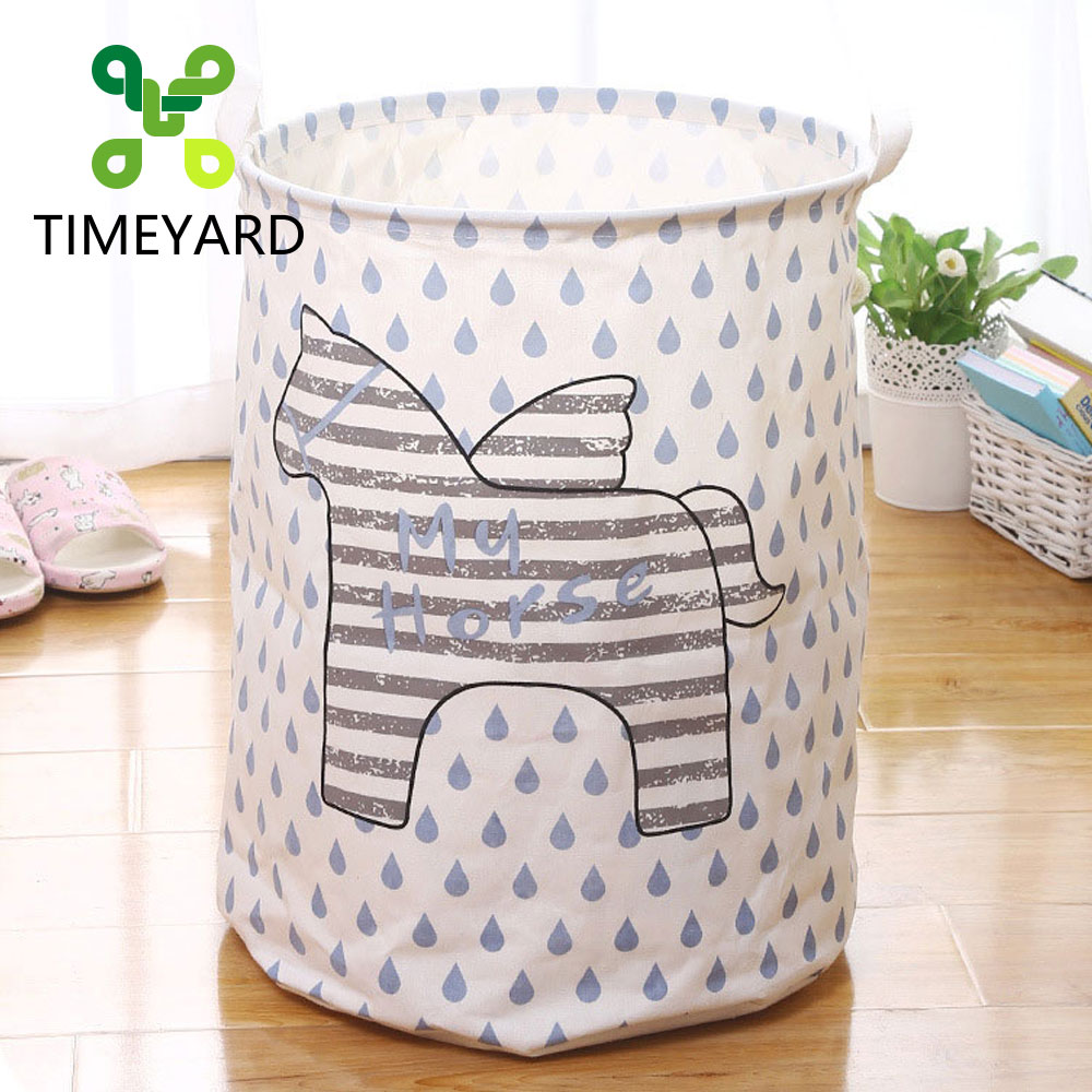 TIMEYARD Laundry Basket Waterproof Foldable Clothes Basket Toys Storage Basket for Organizing Apartment Dormitory Children Room ...