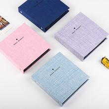 Photo Album 50 Pockets 5 Inch Book Cotton Cover Mini Film Storage Picture Bag for Fujifilm Instax Wide 300, 210