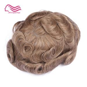 Image 2 - Tsingtaowigs, uomini toupee super sottile skin0.02 0.04mm Vlooped NG, capelli replacemnt, parti dei capelli, uomini parrucca di trasporto libero